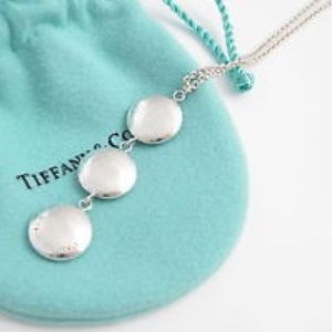 Tiffany & Co. Triple Disc Drop Pendant Necklace